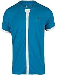 K-Swiss Hypercourt Crew - Camiseta para hombre, color azul / blanco, talla S