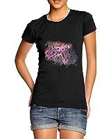 Women Cotton Novelty Fantasy Theme Space Birds Print T-Shirt