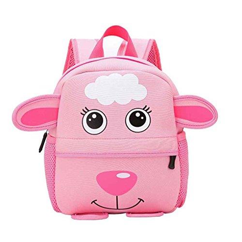 Mengonee Mignon enfant enfant en bas âge sacs d'école enfants sac à dos enfant belle école maternelle cartable animal de bande dessinée 3D sac à dos