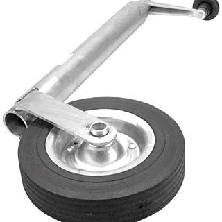 Cartrend 70136 Anhänger Stützrad für Wohn- & Transportanhänger, verzinkt, 48 mm, Vollgummi-Reifen