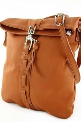 ital. Tasche Damentasche Handtasche Ledertasche Umhängetasche NAPPA LEDER DS61C