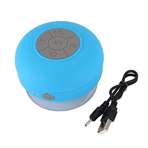WEIWEITOE Mini drahtlose Lautsprecher tragbare wasserdichte Dusche Lautsprecher für Handy MP3-Receiver Hand frei Auto SpeakerBlue, blau, (Bluetooth Frei Die Hände Lautsprecher)