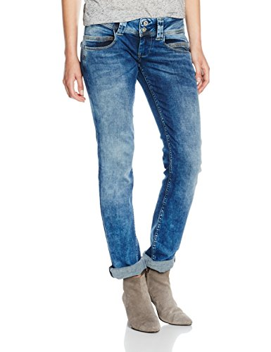 Pepe Jeans Damen Venus Jeans, Blau (Denim 000-d66), W33/L32 (Herstellergröße: 33)