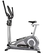 Welcare Elliptical Cross Trainer WC6020 with seat, Hand Pulse Sensor, LCD Monitor, Adjustable Resistance for Home Use