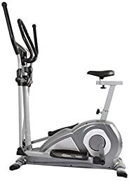 WELCARE Elliptical Cross Trainer WC6020 with seat, Hand Pulse Sensor, LCD Monitor, Adjustable Resistance for Home Use (Free