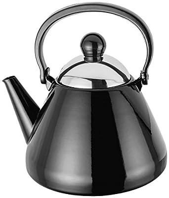 Noir 1.5L Stove Top bouilloire toutes les plaques de cuisson au four 20cm x 20cm x 22cm Garantie 5ans