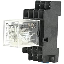 sourcingmap® 5A 240VAC / 28VDC DC 12V Macetaencia de la bobina del relé 14-Pin 4PDT MY4J w Enchufe