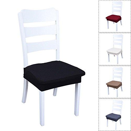 Starter Housses de siège pour salle à manger, 2PCS Stretch Housses de chaise, housse élastique, couverture de décor avec bande élastique, Universal Spandex couvre pour la maison