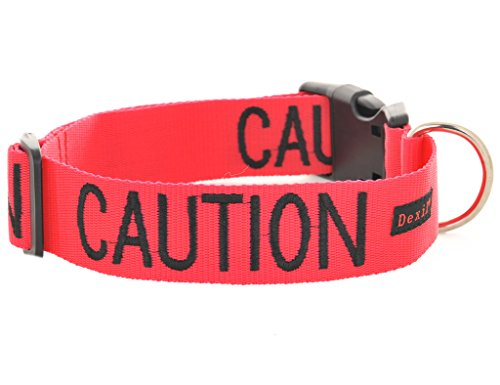 CAUTION-Do-Not-Approach-Red-Colour-Coded-S-M-L-XL-Dog-Collars-PREVENTS-Accidents-By-Warning-Others-Of-Your-Dog-In-Advance-S-M