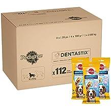 Pedigree DentaStix Zahnpflege Hundeleckerli für mittelgroße Hunde, Kausnack mit Huhn- und Rindgeschmack gegen Zahnsteinbildung für gesunde Zähne, 1er Pack (1x 112 Stück)