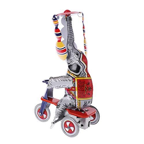 JAGETRADE - Juguete de Metal con diseño de Elefante para triciclos, colección Conmemorativa de Primavera, Juguete para niños y Adultos, decoración Hecha a Mano