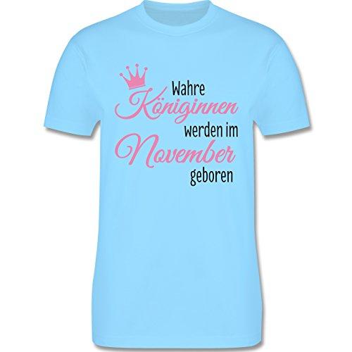 Geburtstag - Wahre Königinnen werden im November geboren - Herren Premium T-Shirt Hellblau