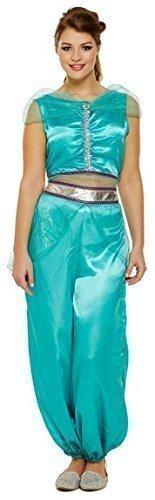 Damen Jasmine Arabische Prinzessin Bauchtänzerin Kostüm Kostüm Outfit - Womans Bauchtänzerin Kostüm