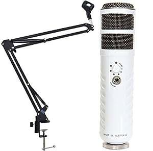 Rode Podcaster USB Mikrofon + KEEPDRUM NB35 Mikrofonstativ Tisch-Mikrofonarm Gelenkarm
