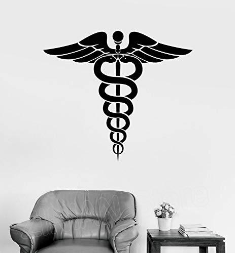 JXTK Wall Decal Medizin Pharmazie Gesundheitswesen Kunst Decals Antikes Griechenland Symbol Aufkleber Home Decoration Wallpaper 64x56 cm