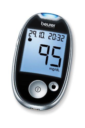 Beurer GL 44 mg/dl Blutzuckermessgerät, Schwarz