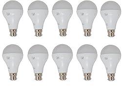 Ryna 5 Watt Plastic LED Bulb(Cool Day Light,Pack Of 10)