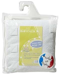 Babycalin - BBC421403 - Protection Matelas - Housse Alese - Eponge Enduite PVC Traite Aegis pour Lit de 60 x 120 cm - Blanc