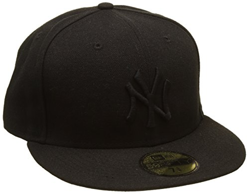 New Era Erwachsene Baseball Cap Mütze MLB Basic NY Yankees 59 Fifty Fitted, Black, 7 1/8, 10000103 (Hat Feld 59fifty)