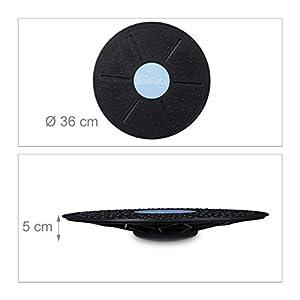 Bluefinity Balance Board, bis 150 kg, D: 36 cm, rutschfeste Noppen, Gleichgewichts-Training, Therapiekreisel, schwarz von BLW2P|#Bluefinity