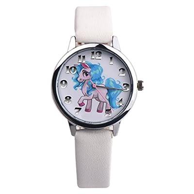 Nighteyes66 Girls Unicorn Wrist Watch Faux Leather Band Analog Display Quartz Watch Xmas Gift : everything 5 pounds (or less!)