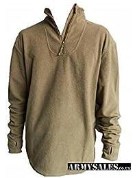 New Style Norgi Top - Thermal Fleece Undershirt - Khaki. USED GRADE 1 GENUINE ARMY SURPLUS