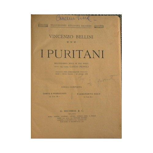 I Puritani : Melodramma serio in tre parti di Carlo Pepoli