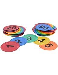 Stabile Bodenmarkierungen mit Buchstaben oder Zahlen - 20 cm Durchmesser