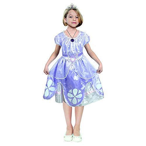 QYS Engel Prinzessin verkleiden Sich Halloween-Kostüme Fancy Party Kleider,Blue,95~110cm