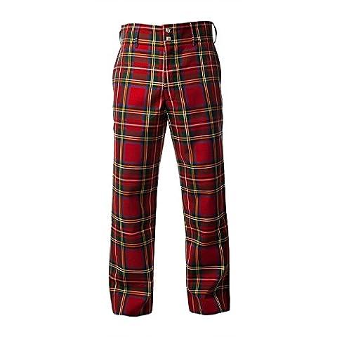 TARTAN TWEEDS - Pantalon - Homme Rouge rouge - Rouge - 50 longue