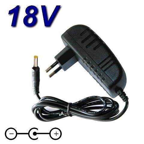 Adaptateur Secteur Alimentation Chargeur 18V pour Batterie BLACK & DECKER CD18C 10mm Typ 3