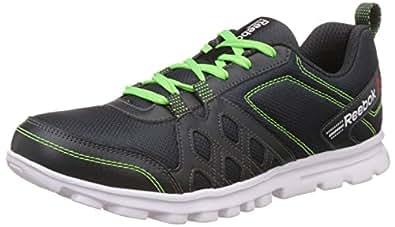 Reebok Men's Run Fusion 2.0 Grey, Neon Green and White Running Shoes - 7 UK