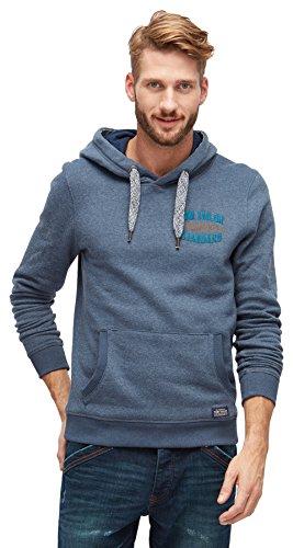 TOM TAILOR Herren Sweatshirt with Pockets black iris blue