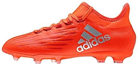 adidas Jungen X 16.1 Fg J Fußballschuhe, Rot (solar Red/silver