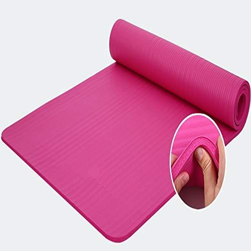GSKTY Tapis de Yoga épais de 10mm NBR Anti-dérapant Durable Exercice Tapis de Gym Fitness Perdre Poids Pad