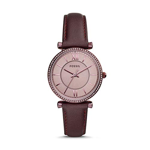 Fossil Carlie Three-Hand Lavender Leather Women's Watch ES4464