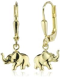 ZEEme For Kids - Kinder-Ohrhänger Elefant 333 Gelbgold 371330522