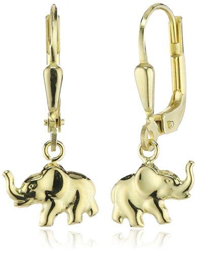 ZEEme For Kids - Kinder-Ohrhänger Elefant 333 Gelbgold 371330522 (Baby Ohrhaken)