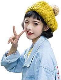 Sawanica Boina Chica Sombrero de Punto Gorro de Lana Caliente Mujer Dulce y  Encantadora f476a6937f5