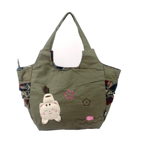 [Pretty Cat] 100% Toile de coton Sac à bandoulière/Swingpack/sac de voyage