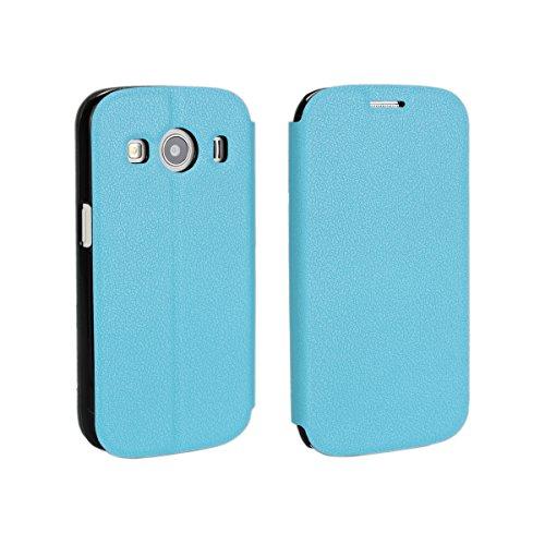 Samsung Galaxy Ace Style LTE G357 Hülle, CaseFirst Leder Handyhülle PU Geldbörse Anti-kratzer Lederhülle Schutzhülle Schutz Stoßfest Bookstyle Wallet Case mit Karten fächer (Himmelblau)