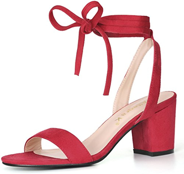 da91727c2 Allegra K Women s Mid Block Heel Ankle Tie Sandals Sandals Sandals  B074Z7RZZM Parent e9a4da