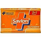Savlon Glycerin Germ Protection Bathing Soap Bar, 125g (Buy 3*125g Get 1*125g Free)