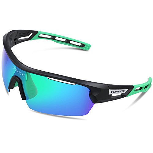 TOREGE Sports Sunglasses Polarized Glasses For Man Women Cycling Running Fishing Golf TR033