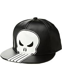 414a3e994 Marvel Men's Punisher Polyurethane Fabric Baseball Cap, Black, One Size