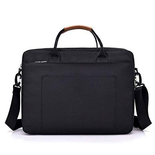 WSJTT Laptop-Umhängetasche 16 Zoll, Notebook-Schulter Messenger Schutztasche Wasserabweisende Umhängetasche Querschnitt Business Aktentasche Schulter Messenger Bag Twill-Laptop-Tasche mit Kartensteckp