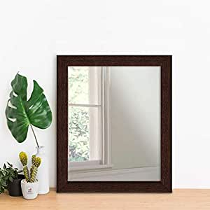 Art Street Brown Flat Decorative Wall Mirror/Make up/Looking Glass (12 x 14 inch)