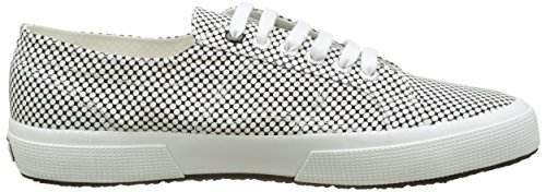 Superga Unisex-Erwachsene 2750-Fabricshirtu Flach Blanc (Optical Black-White)
