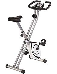 SportPlus S-Bike / X-Bike mit Pulsmessung, Magnetbremssystem mit patentiertem Doppelriemenantrieb, TÜV/GS, klappbar, int. Tablethalterung, Benutzergewicht bis 100 kg