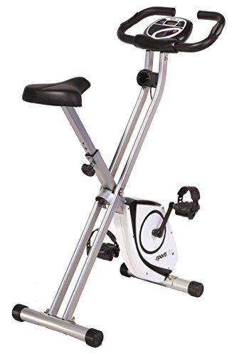 SportPlus Vélo d'Appartement / X-Bike - Ordinateur de Contrôle - Système de Freinage Magnétique Haute Performance - Pliable et ultra Compact - 8 niv. de Résistance - Jusqu'à 100 kg